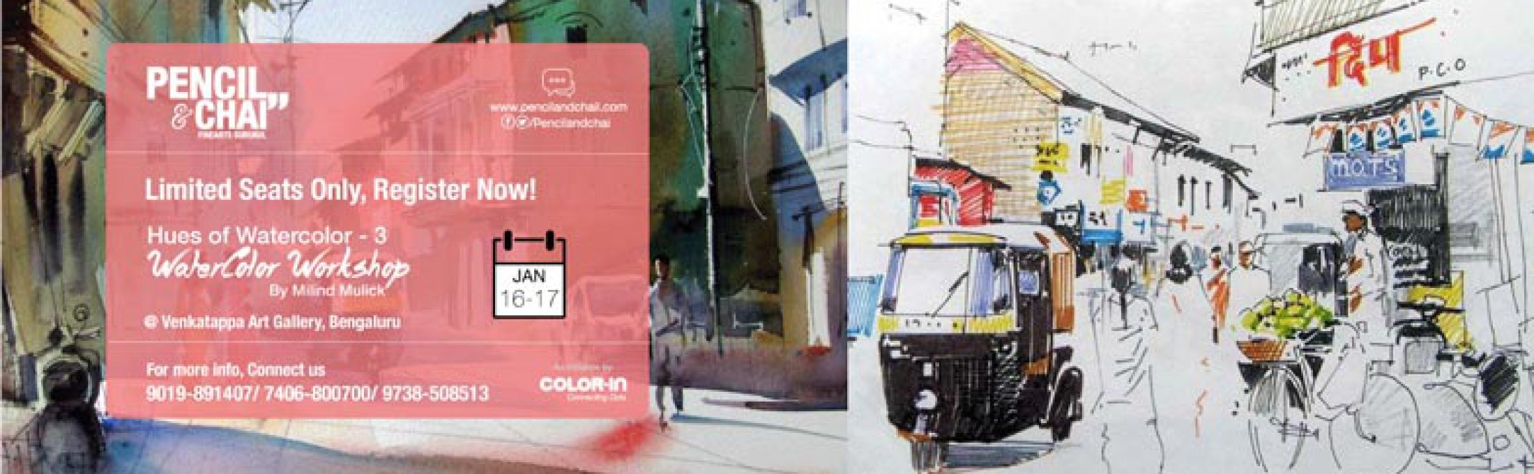 Hues of Watercolor – 3 | Workshop by Milind Mulick | Bangalore