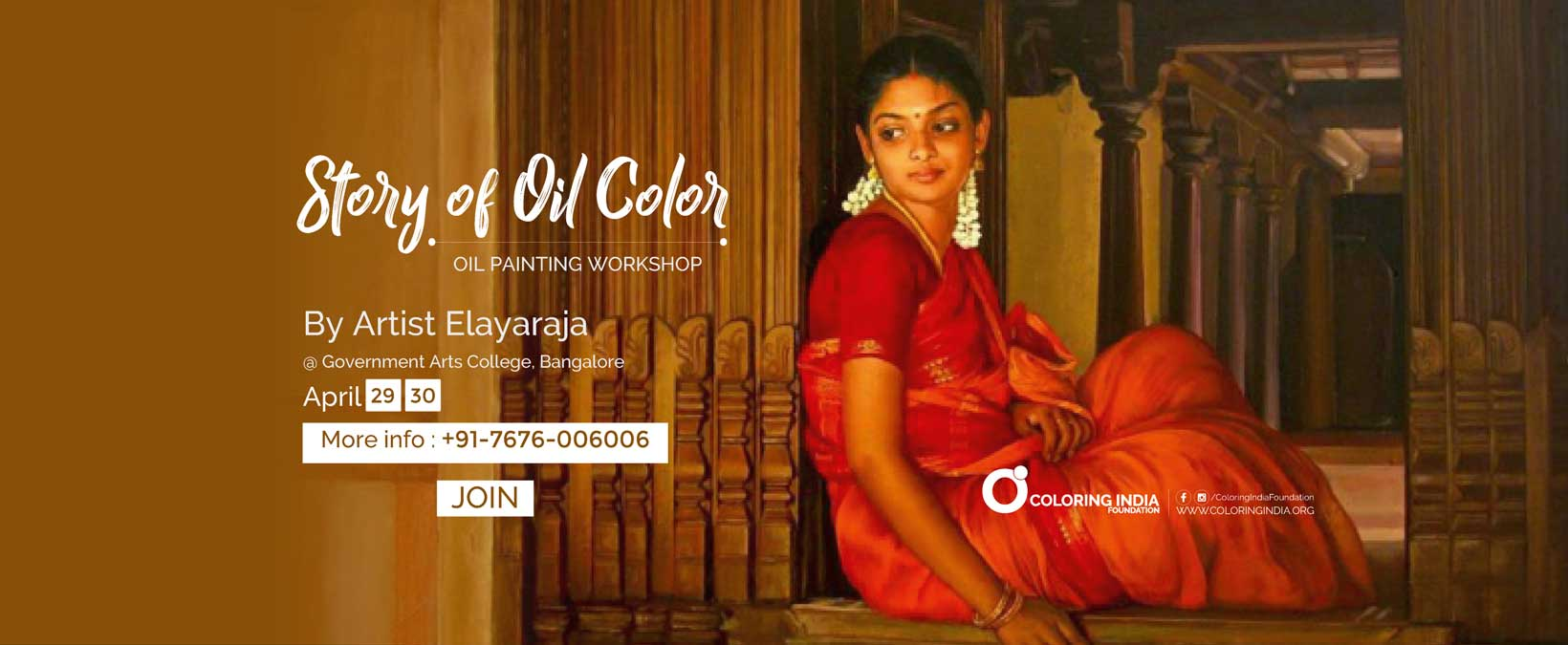 Story of Oil Color – Oil Painting Workshop by S.Elayaraja | Bangalore