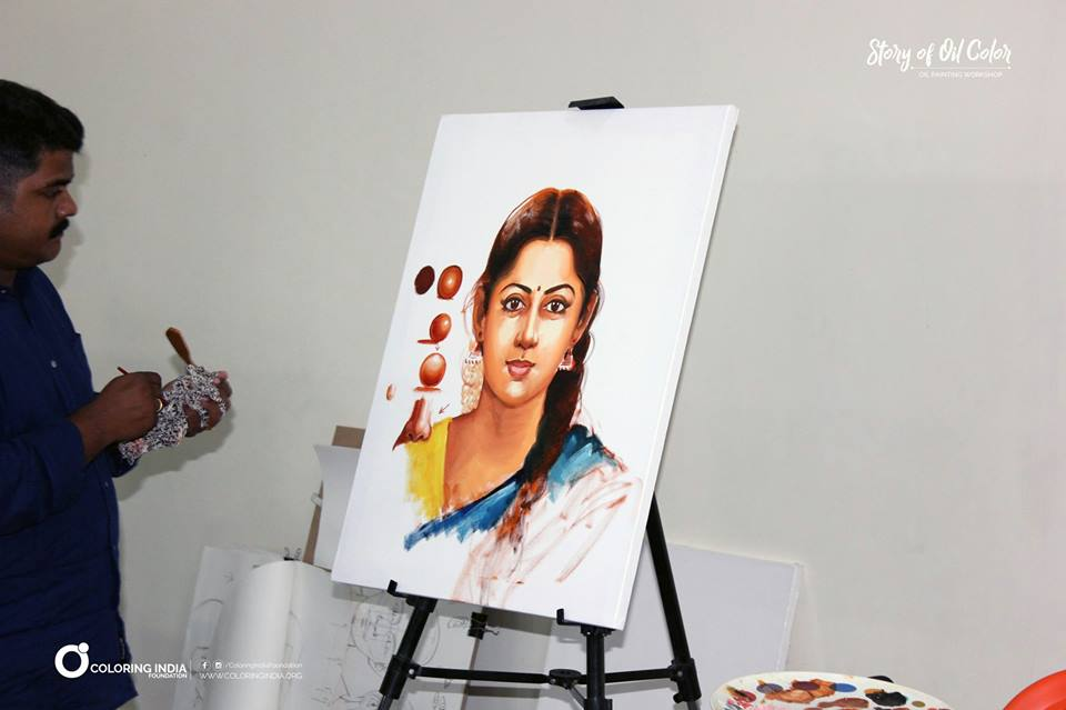 Story of Oil Color – Admiring  the Simplicity of life with S. Elayaraja